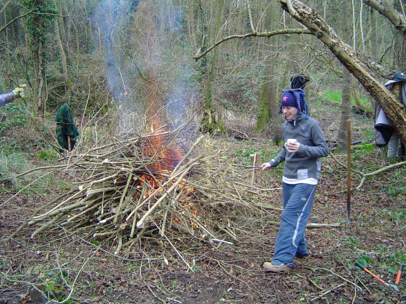 OBJ Border Morris - 2005 Coppicing at Dinton Pastures